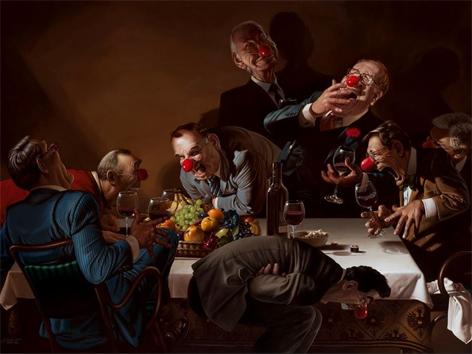 Waldheim und die 7 Kanzler Haderer Karikatur