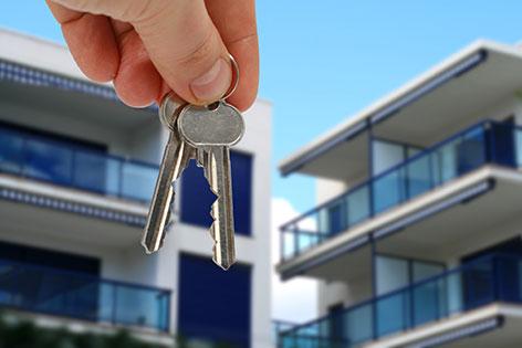 Neue Wohnungen mit Schlüsseln