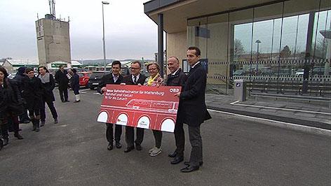Eröffnung neuer Bahnhof Mattersburg
