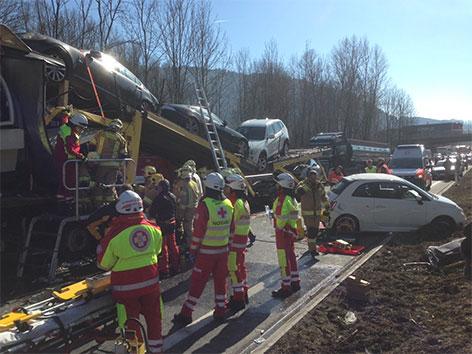 Unfall A12 Kufstein
