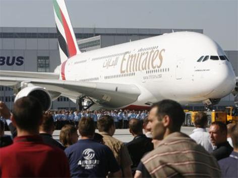 Airbus A380 der arabischen Airline Emirates