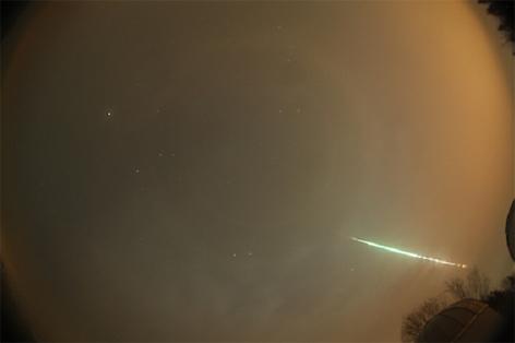 Feuerkugel Meteorit