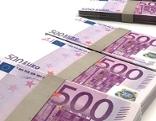 Bündel mit 500 Euro Scheinen Banknoten Geld