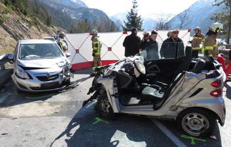 Unfall auf der Achenseestraße