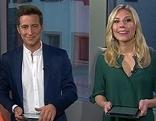 """Lukas Schweighofer und Nina Kraft im mobilen """"Guten Morgen Österreich"""" Studio"""