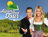 Logo Alpenradtour mit Moderatoren