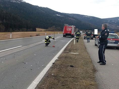 Unfall Auto gegen Traktor Gurktal