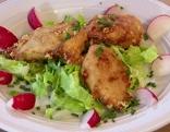 Käsenockerl mit Salat