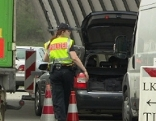 Grenzkontrolle am Walserberg