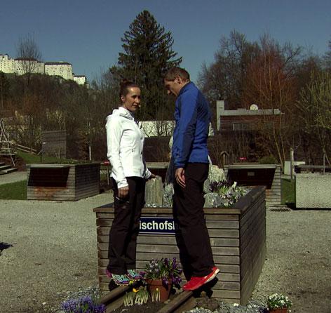 Doresia Krings und Michael Mayrhofer im Fernsehgarten