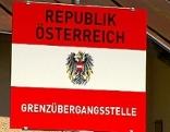 "Schild: ""Grenzübergangsstelle"", Brenner"