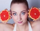 Gesicht Frau Grapefruits