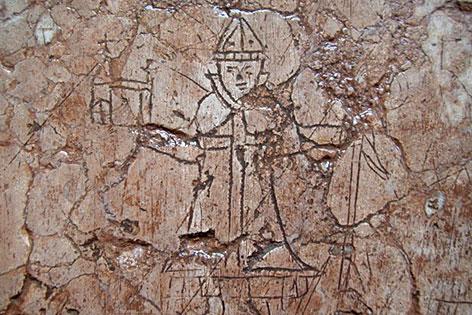 Kritzelei an der Stiftskirche Nonnberg