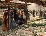 Blumenmarkt an der Madeleine IV | um 1889