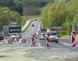 Baustelle Kreisverkehr Oberwart