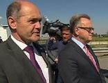 Innenminister Wolfgang Sobotka und LH Hans Niessl in Nickelsdorf