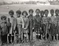 Kinder afroamerikanischer GIs in St. Jakob, 1958