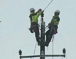 Schneechaos Stromausfälle schwierige Arbeiten