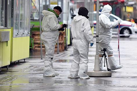 Spurensicherung nach Mord am Brunnenmarkt