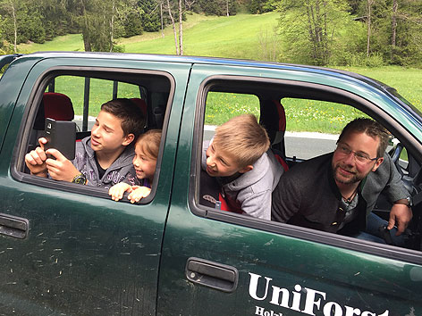 Familie Sichtung Bär Windische Höhe