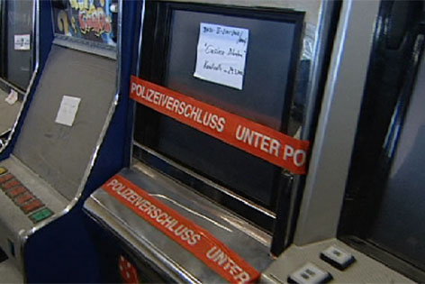 Versiegelter Glücksspielautomat