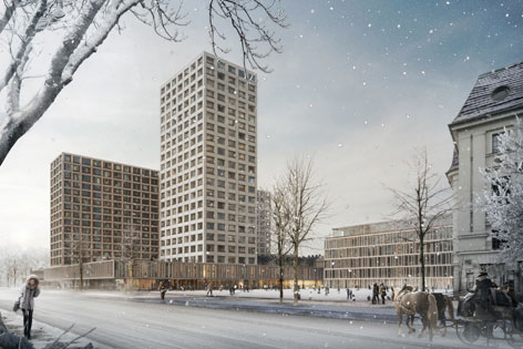 Heumarkt Rendering Hochhaus
