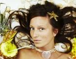 Exotisch Frau Ananas Blumen
