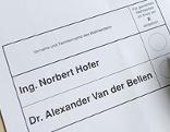 Stimmzettel für Stichwahl bei Bundespräsidentenwahl