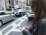 Fußgänger Smartphone Handy