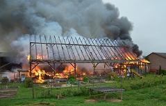 Brand Bauernhof in Triglas