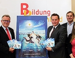Pressekonferenz zu den Bundessommerspielen der Berufsschulen, Niessl, Schober, Köller, Fenz;