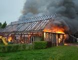 Brand einer Scheune in Triglas