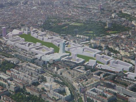 Nordwestbahnhof Stadtplanung Viertel