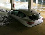 Unwetter Garage überflutet