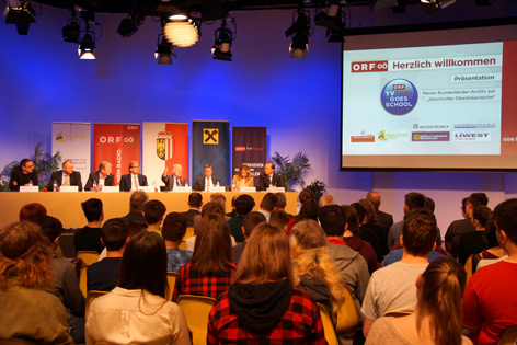 Präsentation von TVThek Goes School im Landesstudio OÖ