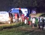 Polterabend Poltern Traktor Unfall Geier