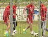 Ungarns Nationalteam Fußball trainiert in Leogang