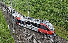 Zug quer über Schienen