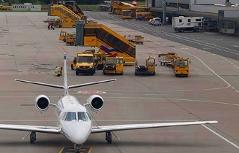 Salzburg Airport Flughafen Salzburg Wolfgang Amadeus Mozart Fliegen Verkehrsflieger Flugzeug Jet Flieger Tourismus Flugverkehr