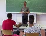 Asylwerber im Klassenzimmer