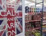 Britische Flagge in Geschäft