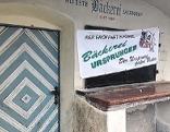 Die älteste Bäckerei Salzburgs in der Gstättengasse in der Salzburger Altstadt