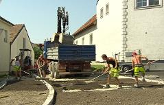 Arbeiten auf der Baustelle in Kleinhöflein