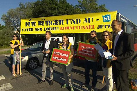 ÖVP-Aktion für Lobau-Tunnel