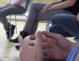 Hände bei Therapiestunde