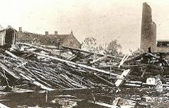 Schäden nach Tornado