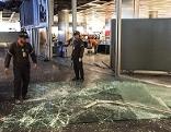 Der Flughafen am Tag nach dem Attentat