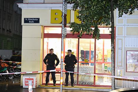 Supermarkt Schießerei Polizisten
