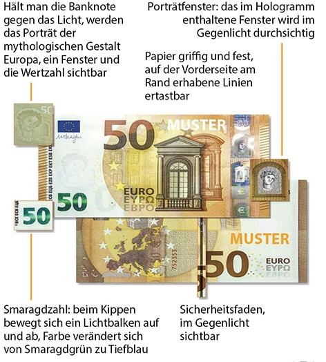neuer 50 euro schein