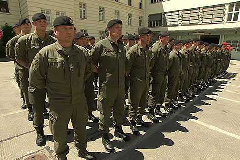 Objektschutz soldaten starten ausbildung wien for Dekorateurin ausbildung wien